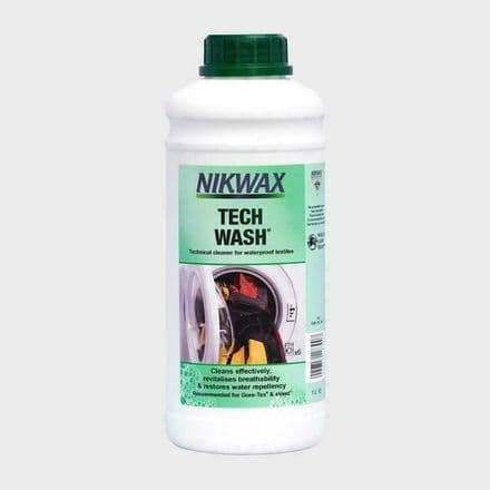 Nikwax Tech Wash Waterproof Clothes 1 Litre Large